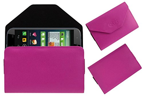 Acm Premium Pouch Case For Micromax Canvas Doodle 2 A240 Flip Flap Cover Holder Pink  available at amazon for Rs.329
