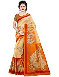 Nirmla Fashion Khadi Cotton Silk Saree With Blouse Piece(saree For Morkala Catalog_Free Size)