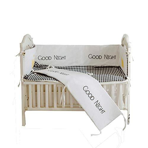 Coussinets de protection respirants pour lit d'enfant standard, ensemble de doublure rembourrée et lavable en machine pour le lit de bébé, rembourrage pour rail de lit de bébé, 4 pièces