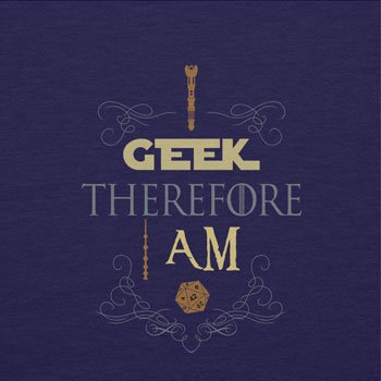 TEXLAB - I geek therefore I am - Herren T-Shirt Navy