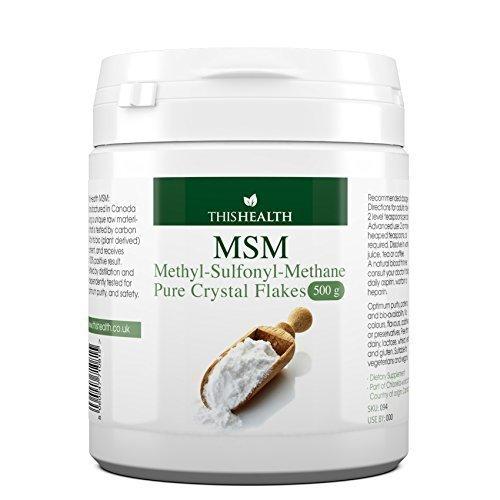 Methylsulfonylmethane (MSM), 500g MSM crystal flakes (powder