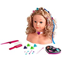 Theo Klein 5240 Princess Coralie Hairstyling, Make-Up Head, Toy, Multi-Colored