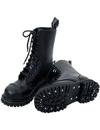 Knightsbridge 10agujeros Springer Botas Boots–Zapatos gothicschuhe Acero para calzado Negro Diferentes Tamaños