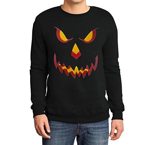 Halloween Kürbis Kopf Smile Gruselig Cooles Motiv Outfit Pumpkin Head Sweatshirt X-Large Schwarz