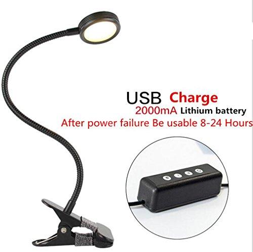 Farbe Lichterkette Changeable/Night Light Clip für Desk, bed Light, Bett und Computer Zimmer-(Silber) (schwarz) Spannung: 110–240V, charging-black (Sabre Led-licht)