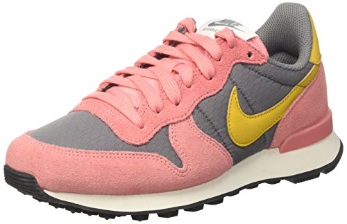Nike Damen Wmns Internationalist Low-Top, Grau (Cool Grey/Gold Dart/Brt Melon/Sail/Black), 36.5 EU (Mädchen Nike Dart)