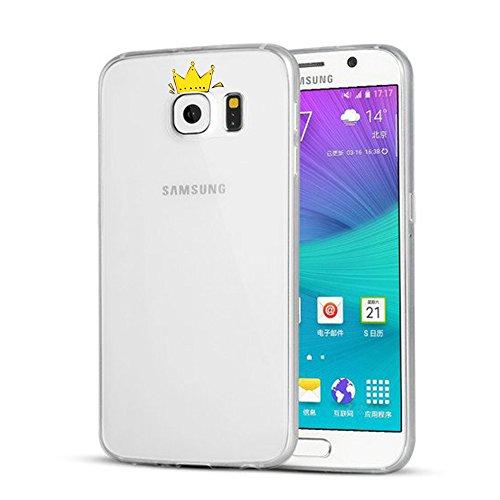Coque Samung Galaxy S7 Edge, Qissy® Ultra-Thin Coque pour Samung Galaxy S6 Edge Plus Silicone Étui Housse Transparent Souple TPU Protecteur Exact Fit Soft Etui Coque H