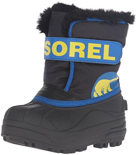 Sorel Snow Commander, Bottes de Neige Mixte Enfant Noir (Black/Super Blue 011)