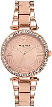 Anne Klein Womens Quartz Watch, Analog Display and Stainless Steel Strap AK-3014BHRG