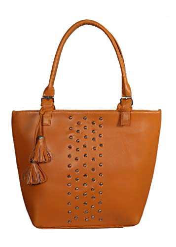 Blue Fusion Women's PU Handbag Bag(Brown)