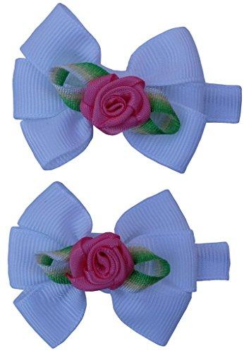 Jessidress Clips Haarclip Haar Clip Haarblumen Haar Blumen Taufe Blume Haarband Haarspangen Stirnbänder Rose Weiß