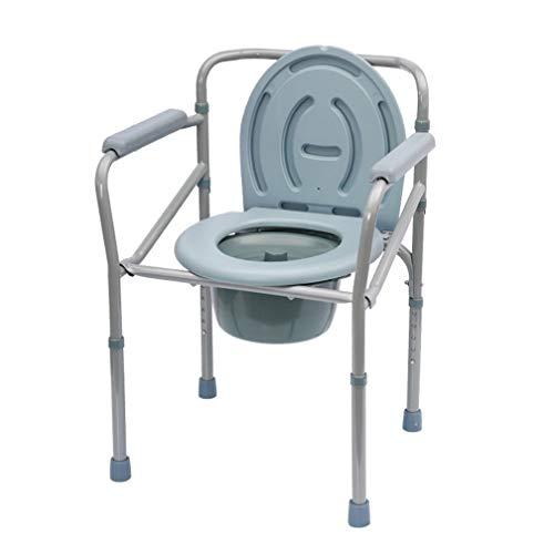 XMZWD Kommode Stühle, Nacht Kommode Toilettenstuhl/Schwerlast Drop Arm Bariatrische Kommode/Klapp Badezimmer Sicherheitsrahmen, Für ältere Senioren/Behinderte -
