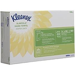 1 de Kleenex 7996 Dispensador de Toallas Secamanos y 2 X Slimfold Toallas