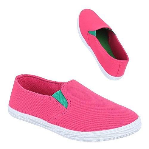 Kinder Schuhe, FY5008, BALLERINAS SLIPPER STRETCH Pink