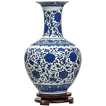 Amazon.de: Kersten Deckelvase Retro Blau-Weiß Porzellan