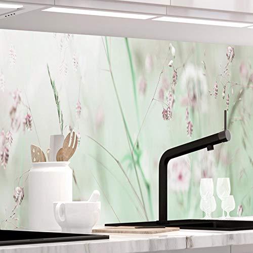StickerProfis Küchenrückwand selbstklebend Premium WILDBLUMENWIESE 1.5mm, Versteift, alle Untergründe, Hartschicht, 60 x 280cm