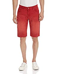 Superdry Mens Cotton Shorts (5054265276095_M71MT003_XX-Large_Worn Red)