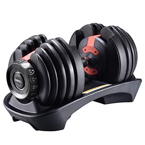 Arteesol Mancuernas Ajustables 2.5KG-24KG Pesas Entrenamiento Gimnasio Entrenamiento Fitness Fitness Muscular Inicio Culturismo Pesas Libres Biceps Fitness Mancuernas (Soltero)