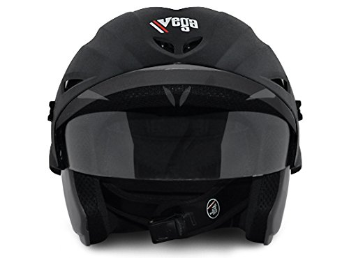 Vega Cruiser Open Face Helmet with Peak (Dull Antracite, M)
