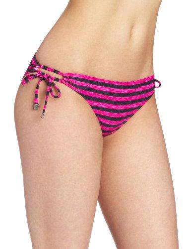 Oakley Swim Damen Bikini 3D Stripe Reversible String Gr. X-Small, Pink Blast - Reversible Bikini Brief
