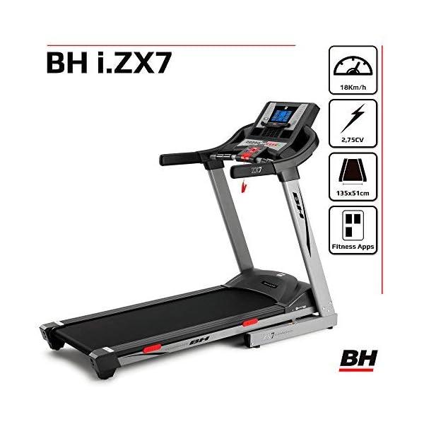 BH Fitness i.ZX7 G6473IRF - Tapis roulant - Elettrico - Pieghevole - Velocità max 18 Km/h - Inclinazione elettrica 12… 3 spesavip