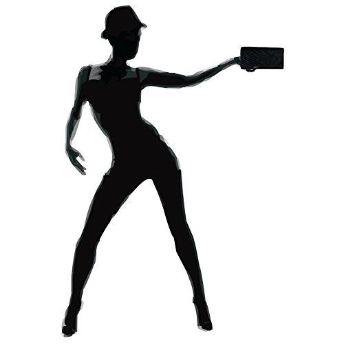 CASPAR TA401 Donna Pochette Brillantini Glitter Nero