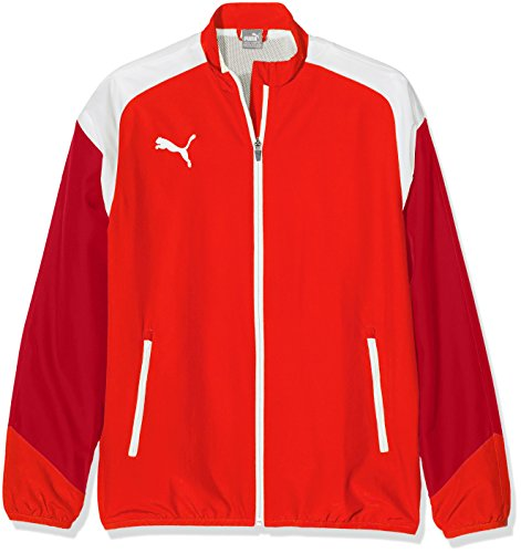 Cat Woven Jacket (Puma Kinder Esito 4 Woven Jacket Jacke, red White-Chili Pepper, 176)