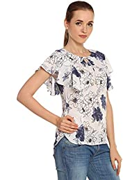 89bf1c03d705f Itsyor Floral Design White Casual wear Women s top