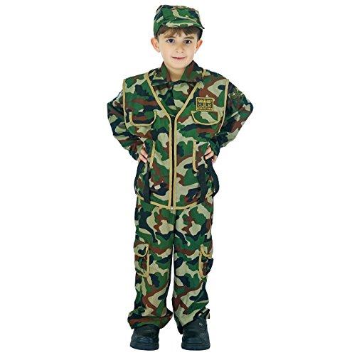 Sea Hare Kind Armee Boy Soldat Kostüm (S :4-6 Jahre)