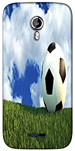 Snoogg football field Designer Protective Back Case Cover For Micromax A117