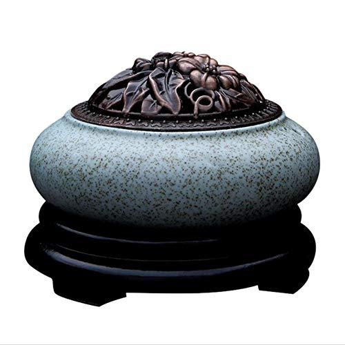 Timing-Temperatursteuerung Keramischer elektrischer Weihrauchbrenner, Aromatherapy Ofen des ätherischen Öls, Agarwood Burner, Home Porzellan, Balkon, Veranda, Terrasse, Garten wesentlich -