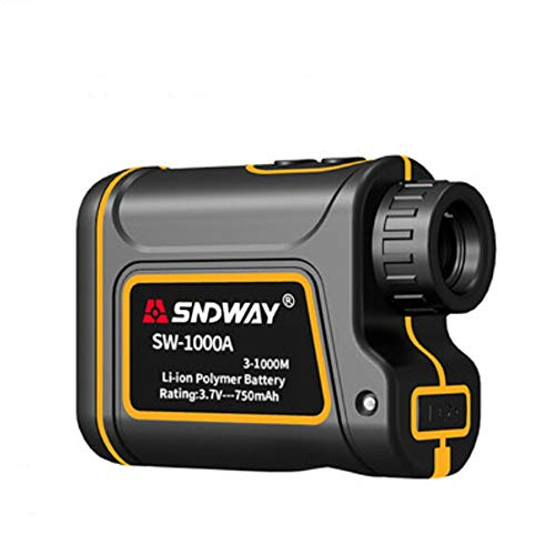 CompraJunta 600m/1000m/1500mm Golf telemetro Laser binoculare, Tester LCD Professionale Display Distanza/velocità/Angolo/Altezza, Batteria al Litio Ricaricabile, Campo 7x24mm settimo,1000m