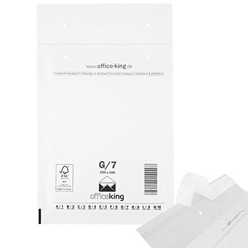 Luftpolstertaschen reißfest selbstklebend 50 Stk Weiss G/7 | 250 x 350mm DIN A4+ C4