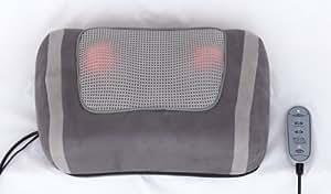 Coussin de massage Shiatsu pour massage puissant avec 4têtes de massage rotatives, la lumière rouge chauffante + Télécommande.