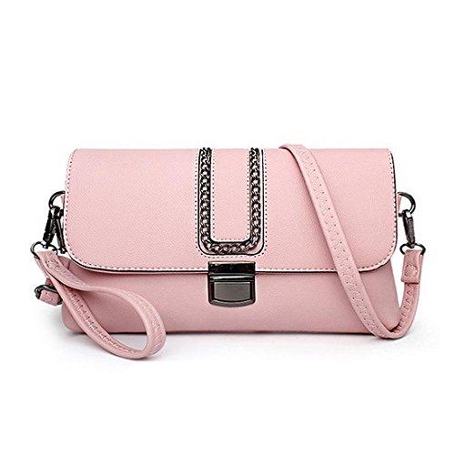 Lisianthus002, Borsa a tracolla donna Light-pink