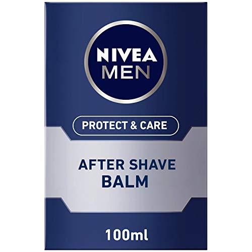 Nivea Men Protect & Care After Shave Balsam im 1er Pack (1 x 100 ml), Aftershave pflegt die Haut nach der Rasur, feuchtigkeitsspendende und beruhigende Gesichtspflege -