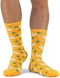 Luckies of London Soup Socks Graciosos Calcetines de Hombre y Mujer, Zanahoria y Cilantro, Algodón, Amarillo,…