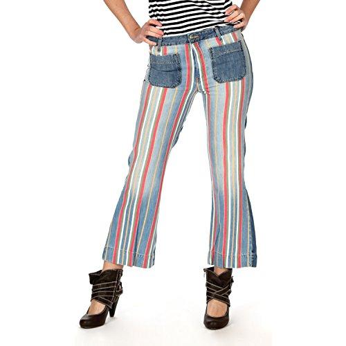 Wrangler Damen Jeans, Frauenjeans W2308799Y Cropped Flare Disco Stripes, Inch Größen:W31 (Disco-flare Jeans)