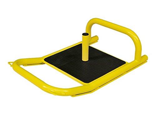 Bad Company Profi Power Sprint- und Zugschlitten Schlitten Sled Gewichtsschlitten/Power Steel Sled Yellow inkl. Zubehör