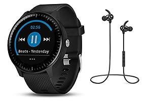Garmin vívoactive 3 Music GPS-Fitness-Smartwatch – Music-Player für bis zu 500 Songs - 24/7 Herzfrequenzmessung am Handgelenk, vorinstallierte Sport-Apps, integriertes GPS, Mobile Payment via NFC - inkl. Bluetooth Headset