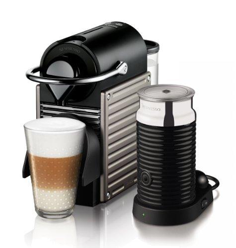 Krups Nespresso Pixie XN3015 Kaffeekapselmaschine (mit Aeroccino3) electric titan