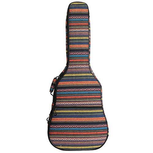 Ethniker Strickstil 40 Zoll/41 Inch Guitar Bag Wasserproof Acoustic Electric Guitar Carry Case Rucksack 41