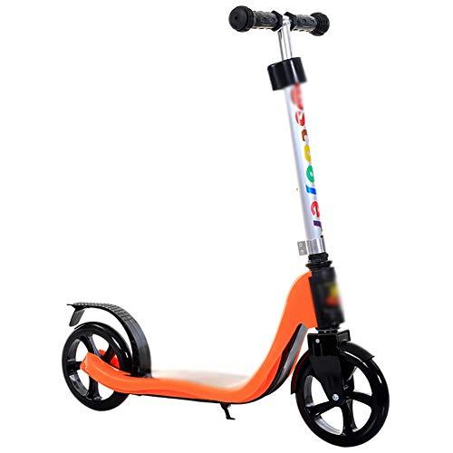 Monopattino Tuta da Scooter Portatile per Adulti e Bambini età 8 su 4 Livelli Pedali Auto Pieghevole a 2 Ruote con Altezza Regolabile Non elettrici
