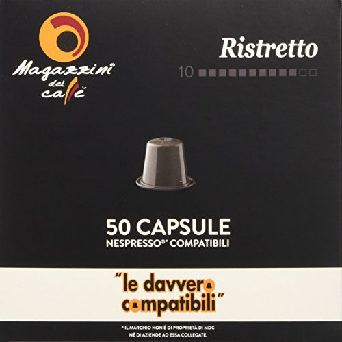 Magazzini del Caffè, 200 Capsule Compatibili Nespresso - Miscela Ristretto Intensità 10 - 1320 g
