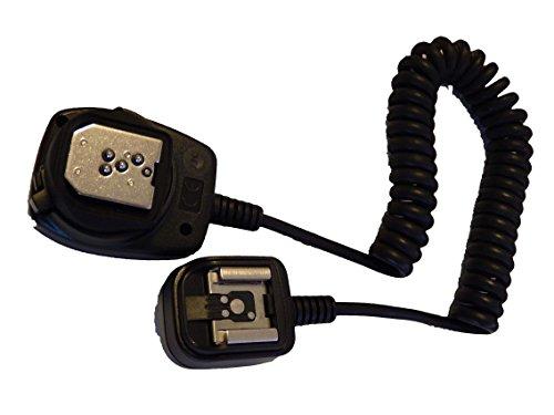vhbw TTL Blitzkabel für Blitzlichtgeräte mit TTL-Mittenkontakt für Kamera Pentax K-100, K-20, K-200, K-5, K-7 K-10, K-m, K-R, K-x