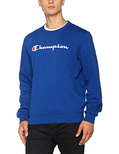Champion Herren Crewneck Sweatshirt-Institutionals, Blau (Bvu), Small (Champion Sportbekleidung)