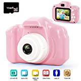 hyleton Kids Camera Rechargeable Kids Digital Camera 2.0 Inch IPS Screen 5MP 1080P