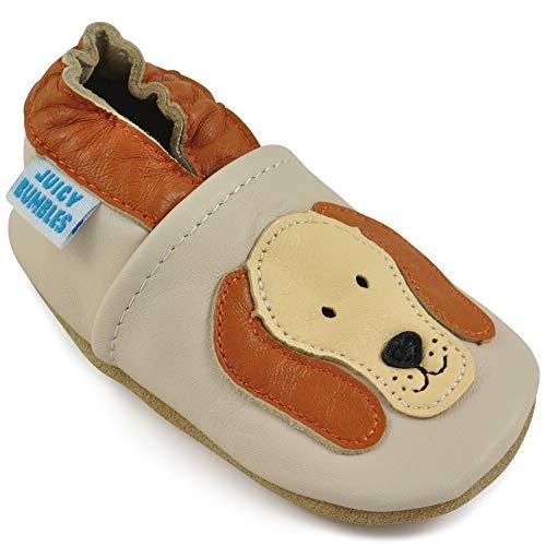 Juicy Bumbles Lauflernschuhe - Krabbelschuhe - Babyhausschuhe - Rufus Hund 6-12 Monate (Größe 20/21)