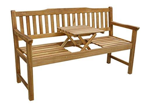 Holzbank 'Palu', mit Tischchen, Akazie