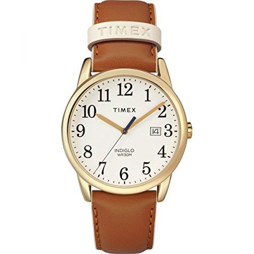 Timex Orologio Analogico Quarzo Donna con Cinturino in Pelle TW2R62700JT